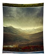 Tombstone Range Seasons Vertical Tapestry