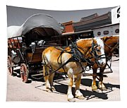 Tombstone Wagon Tapestry