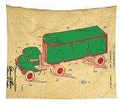 Tonka Truck Patent Tapestry