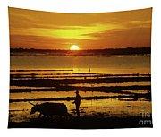Tonle Sap Sunrise 01 Tapestry