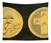 Tonto Apache Tribe Code Talkers Bronze Medal Art Tapestry
