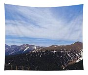 Top Of Independence Pass Panorama Tapestry