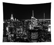 Top Of The Rock In Black And White Tapestry