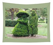 Topiary Couple Tapestry