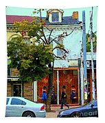 Toronto Stroll Past Fashion Stores Downtown Early Autumn Urban City Scenes Canadian Art C Spandau Tapestry
