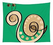 Thoughts And Colors Series Snail Tapestry