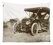 Touring Car On The Road California 1906 Tapestry