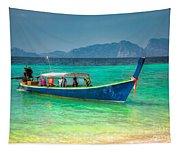 Tourist Longboat Tapestry