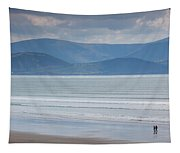 Tourists On The Beach, Inch Strand Tapestry