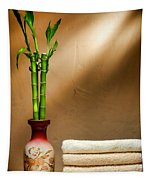 Towels And Bamboo Tapestry