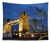 Tower Bridge The Dolphin And The Girl Tapestry