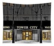 Tower City In Cleveland Ohio Tapestry