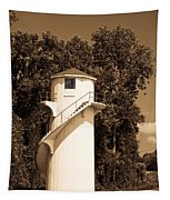 Tower In Sepia Tapestry