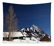 Towering Above Crested Butte Tapestry