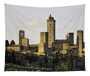 Towers Of San Gimignano Tapestry