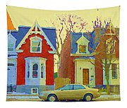 Town Houses In Winter Suburban Side Street South West Montreal City Scene Pointe St Charles Cspandau Tapestry