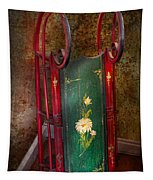Toy - Sled - Fun Memories With My Sled  Tapestry
