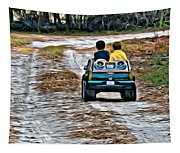 Toy Truck Riders Tapestry