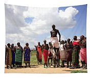 Traditional Samburu Dance Tapestry