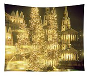 Trafalgar Square Christmas Lights Tapestry