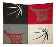Trail Blazers Ball And Hoop Tapestry