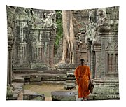 Tranquility In Angkor Wat Cambodia Tapestry