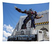 Transformers The Ride 3d Universal Studios Tapestry