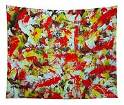 Transitions With Yellow Brown And Red  Tapestry