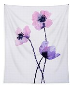 Translucent Poppies Tapestry