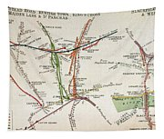 Transport Map Of London Tapestry