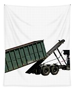 Trash Truck Tapestry by Olivier Le Queinec