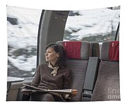Travel In Train Tapestry