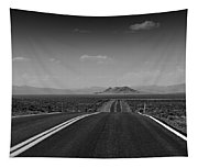 Traveling Down The Road Into The Mountains Tapestry