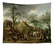 Travellers At An Inn Tapestry