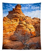 Tree And Hoodoo Tapestry