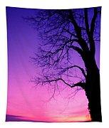 Tree At Sunrise Tapestry