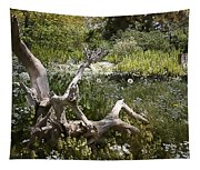 Tree Trunk In The Meadow Tapestry
