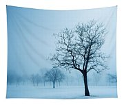 Trees And Snow In Fog, Toronto, Ontario Tapestry