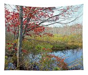 Trees In A Forest, Damariscotta Tapestry
