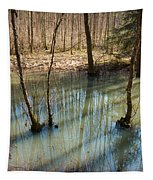 Trees Standing In The Water Tapestry
