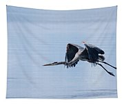Tri Colored Heron Take Off Tapestry