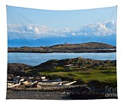 Trial Island And The Strait Of Juan De Fuca Tapestry