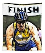 Triathalon Competitor Tapestry