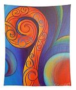 Tribal Koru Red Tapestry