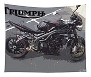 Triumph Motorcycle Tapestry