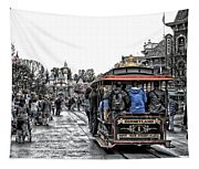 Trolley Car Main Street Disneyland Sc Tapestry