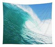 Tropical Blue Ocean Wave Tapestry