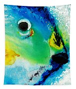Tropical Fish 2 - Abstract Art By Sharon Cummings Tapestry