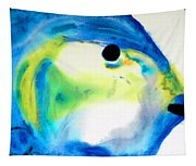 Tropical Fish 3 - Abstract Art By Sharon Cummings Tapestry