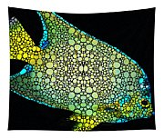 Tropical Fish Art 8 - Abstract Mosaic By Sharon Cummings Tapestry